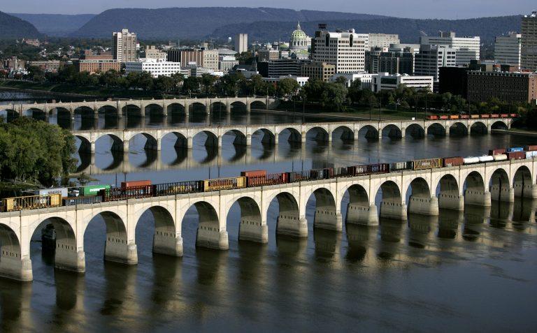 The Susquehanna River runs past Harrisburg.(AP Images)