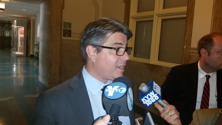 Philadelphia Councilman Bobby Henon said the bill to put a down payment on property for a new prison facility may go to a vote next week.(Tom MacDonald/WHYY)