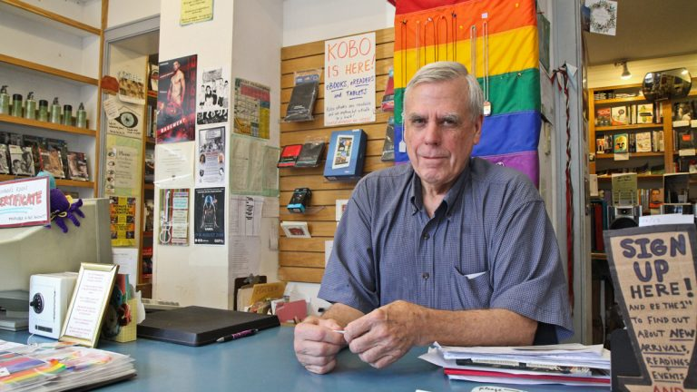 Giovanni's Room owner Ed Hermance is retiring after operating the bookstore for 37 years. (Kimberly Paynter/WHYY)