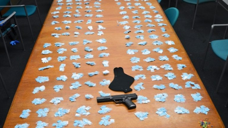 3,000 bags of heroin seized from a 16-year-old in Wilmington last month (Photo courtesy of the Wilmington Police Department)
