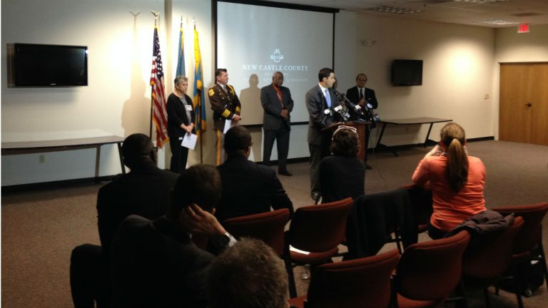 County officials unveil the Heroin Trap campaign. (Avi Wolfman-Arent, Newsworks)