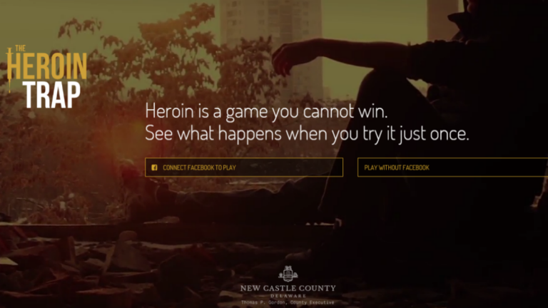 Brochure image from New Castle County heroin awareness campaign