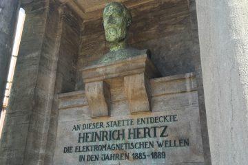 The Hertz memorial in Karlsruhe