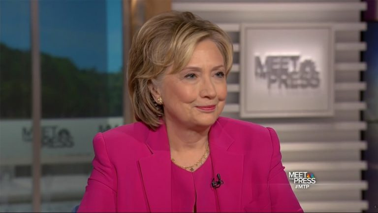 Democratic presidential candidate Hillary Clinton appeared on 'Meet the Press' on Sunday.