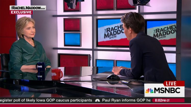 Hillary Clinton spoke about rebuilding the Democratic Party at the local level on the Friday broadcast of The Rachel Maddow Show.