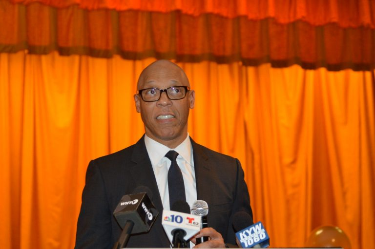 Philadelphia School Superintendent William Hite says the federal grant will help in the process of building stronger schools and a vibrant healthy community in West Philadelphia. (Tom MacDonald/WHYY)