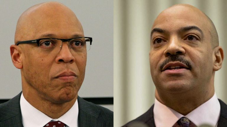 Superintendent of Schools William Hite (left) and District Attorney Seth Williams take different approaches to Philadelphias truancy problem. (File photos)