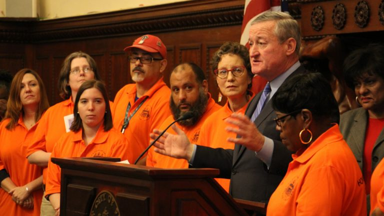Philadelphia Mayor Jim Kenney talks about a plan to target homeless