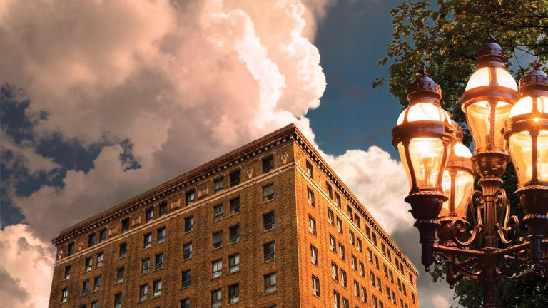The Hotel Bethlehem was built in 1922 at the encouragement of the Bethlehem Steel company to accommodate special guests to the city. (Image courtesy of Hotel Bethlehem)