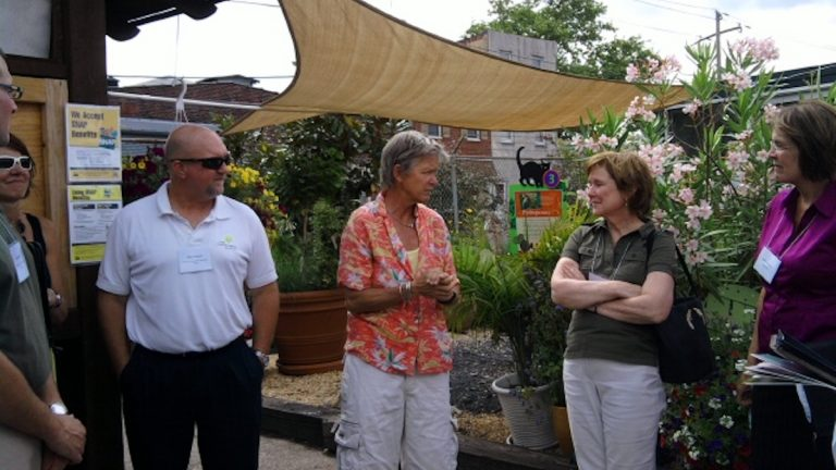 Mary Seton Corboy at Greensgrow (photo via planphilly)