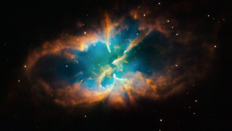 A planetary nebula captured by the Hubble Space Telescope.  Bochanski utilizes terrestrial and space telescopes to search for Earth-like planets. (Courtesy of NASA/ ESA/Hubble Heritage Team STScI/AURA)