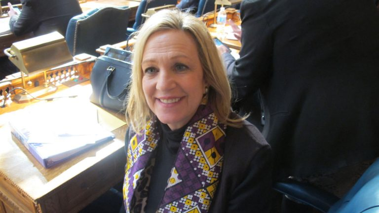 Assemblywoman Valerie Huttle has proposed a measure to provide more victims of sex assault protection in New Jersey. (Phil Gregory/WHYY)