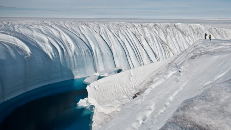 Polar ice sheets are now melting three times faster than in the 1990s. The acceleration of the melting, especially in Greenland, has ice scientists worried. (AP Photo/Ian Joughin)