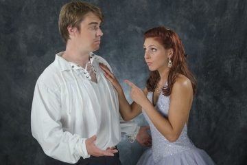 Glen Kraft as Rob and Lisa DeChristofaro as Cinderella in
