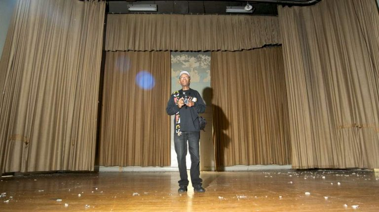 A look inside the Germantown High School auditorium during a May open-house for possible buyers. (Bas Slabbers/for NewsWorks)