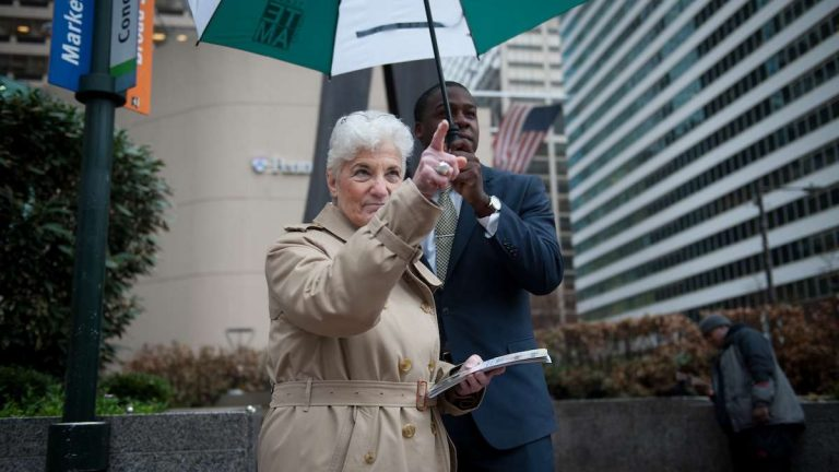 Lynne Abraham recently lamented the lack of discussions about women's issues in the mayoral campaign. (Tracie Van Auken/for NewsWorks)