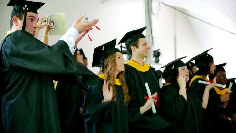 Students became graduates at Chestnut Hill College last weekend. (Bas Slabbers/for NewsWorks)