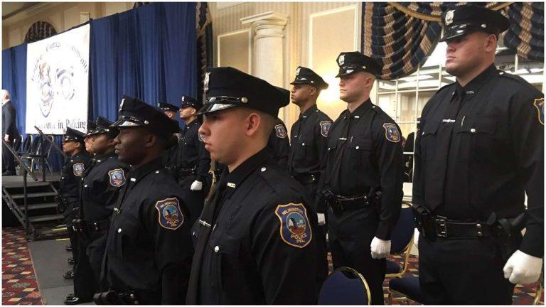 Eighteen new Wilmington Police officers take oaths of office (John Jankowski/for NewsWorks)