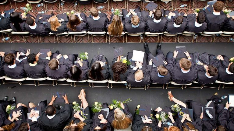 'Tis the season that cap-and-gown wearing high-school students become graduates in Northwest Philadelphia. (Brad Larrison/for NewsWorks, file)