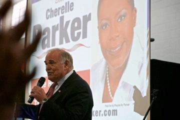 Ed Rendell, the former mayor and governor, spoke at a City Council campaign-launch event on Saturday. (Bas Slabbers/for NewsWorks)
