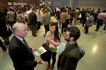 In early March, the City Council Candidates Convention drew hundreds of attendees and dozens of politicians, both aspiring and elected, to WHYY. (Bas Slabbers/for NewsWorks)