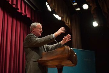 According to the first independent poll of the mayoral-primary campaign, Jim Kenney has a substantial lead over the rest of the field. (Tracie Van Auken/for NewsWorks)