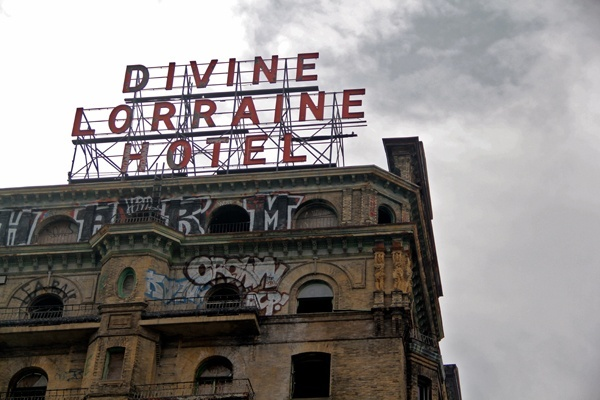 With a grant from Pennsylvania, it appears long-stalled plans fore renovation of the landmark Divine Lorraine Hotelare about to move forward. The hotel is at the center of a  comprehensive plan for revitalizing part of North Broad Street. (NewsWorks file photo)