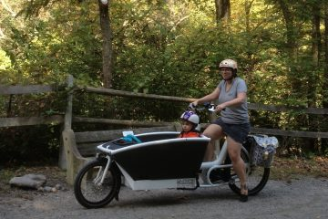 Ready to take on the trails of the Wissahickon. (Courtesy of Dena Driscoll)