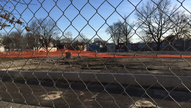 A 55-unit low-density public-housing development is slated to replace a demolished high-rise. (Aaron Moselle/WHYY)