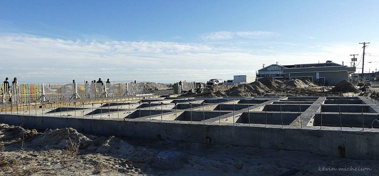 Construction next to the Seaside Park boardwalk on December 27