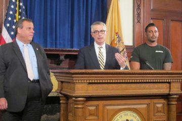 Gov. Chris Christie (from left)