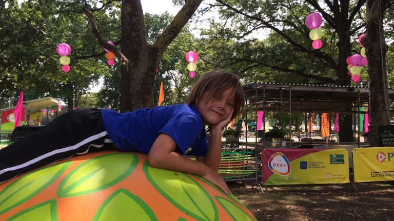 Head to Eakins Oval this weekend for some family fun. (Courtesy of Jen Bradley)