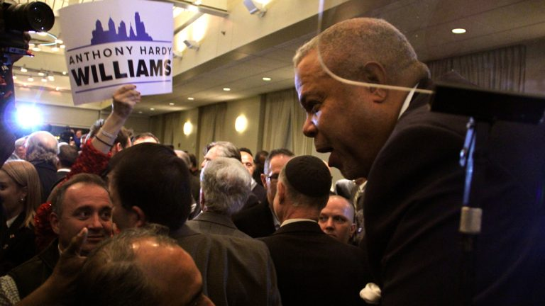 State Sen. Anthony Williams kicks off of his mayoral campaign (Emma Lee/WHYY)