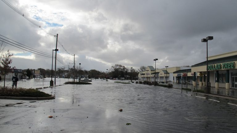 Floodwaters from Sandy inundate Point Pleasant, New Jersey, in 2012.(Phil Gregory/WHYY)
