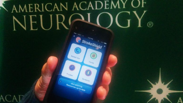 The StrokeShield smartphone app was created by Dr. Claude Nguyen, a University of Pennsylvania stroke physician. (Jessica McDonald/WHYY)