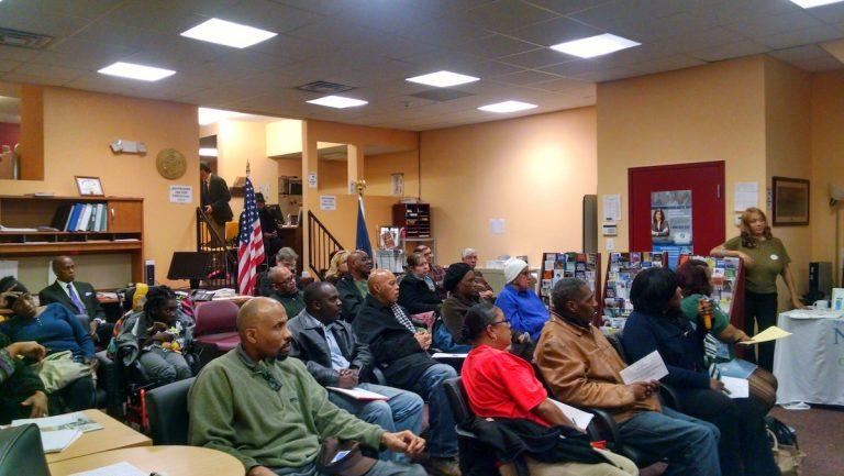 Tuesday night's Northwest Neighbors of Germantown meeting drew nearly two dozen attendees. (Daniel Pasquarello/for NewsWorks)