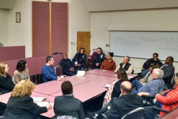 Community members and officials discussed Mt. Airy parking concerns at Monday night's meeting. (Daniel Pasquarello/for NewsWorks)