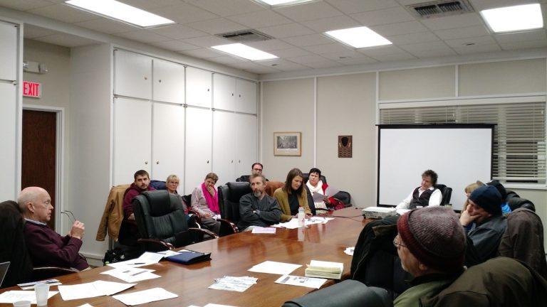 WICA members at a meeting on Jan. 14. (Daniel Pasquarello/for NewsWorks)