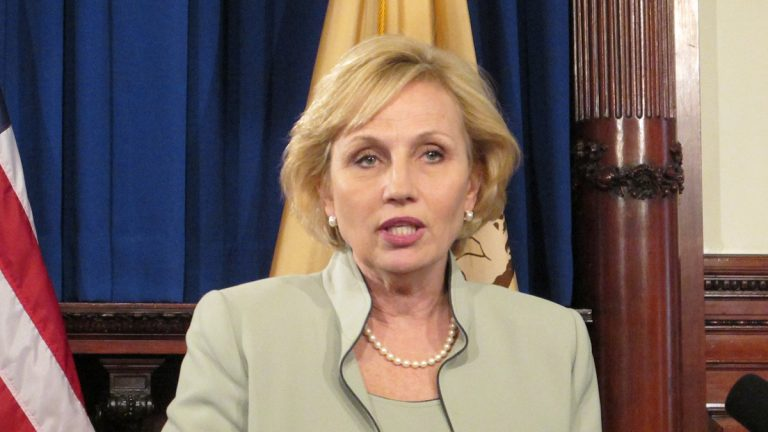 Kim Guadagno has been New Jersey's lieutenant governor for six years, but only 31 percent of registered voters recognize her. (Phil Gregory/WHYY)