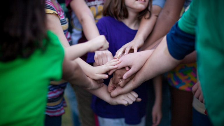 A new pilot program in Philadelphia is bringing together kids who live with an addicted family member to provide support and foster resiliency. (Photo provided by The Moyer Foundation from the national network of Camp Mariposa locations.)