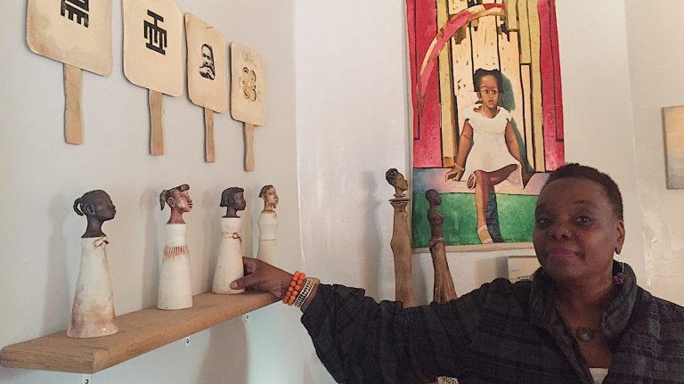 Vashti DuBois in The Colored Girls Museum. (Neema Roshania Patel/WHYY)