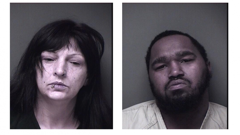 Patricia Brown, 55, of Egret Drive in Toms River (left) and Eric Dawson, 23, of South Munn Avenue face a variety of drug charges after police arrested them in a recent raid in Toms River. (Photo courtesy of the Toms River Police Department)