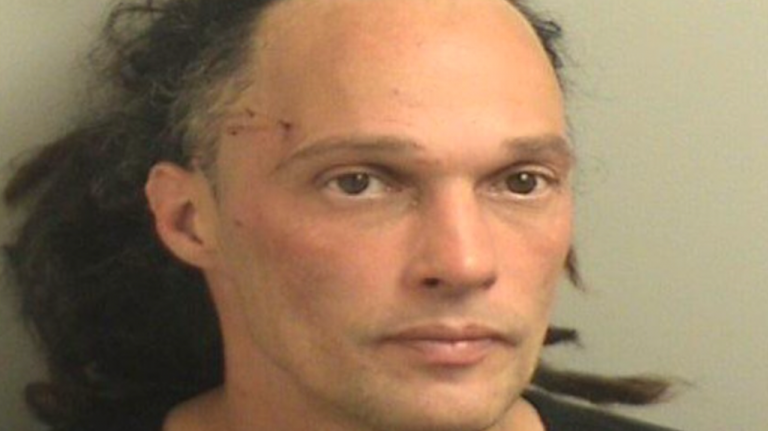 Mark Paturzzio, 38, of Seaside Heights is being held in the Ocean County Jail after police captured him fleeing from a Toms River house with jewelry. (Image courtesy of the Toms River Police Department)