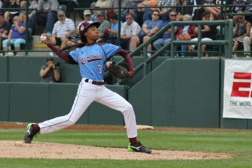 Mo'ne Davis did not give up any runs during Friday's Little League World Series game. (Kimberly Paynter/WHYY)