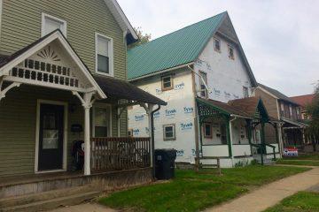 Older houses in Williamsport get upgraded with PHARE funding. (Eleanor Klibanoff/WPSU)