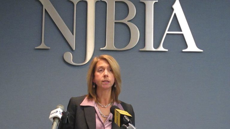 Michele Siekerka, president of the New Jersey Business and Industry Association, says companies in the state are anticipating a good 2015. (Phil Gregory/WHYY)