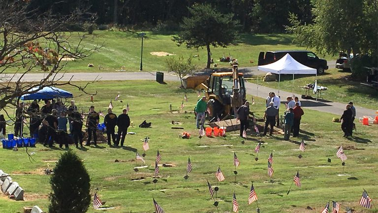 Authorities exhume unidentified bodies at Maple Hill Cemetery in Hanover Township