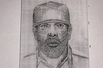 A sketch of the suspect. (Courtesy of Philadelphia Police Department)
