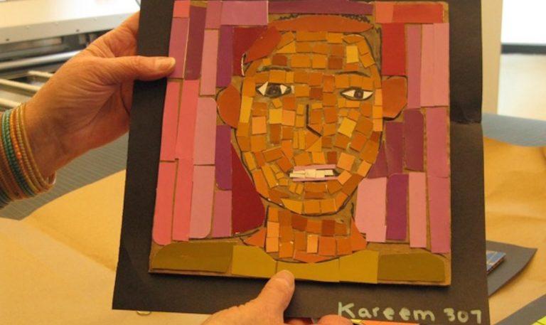 A mosaic self-portrait. (Pamela Forsythe/for NewsWorks)