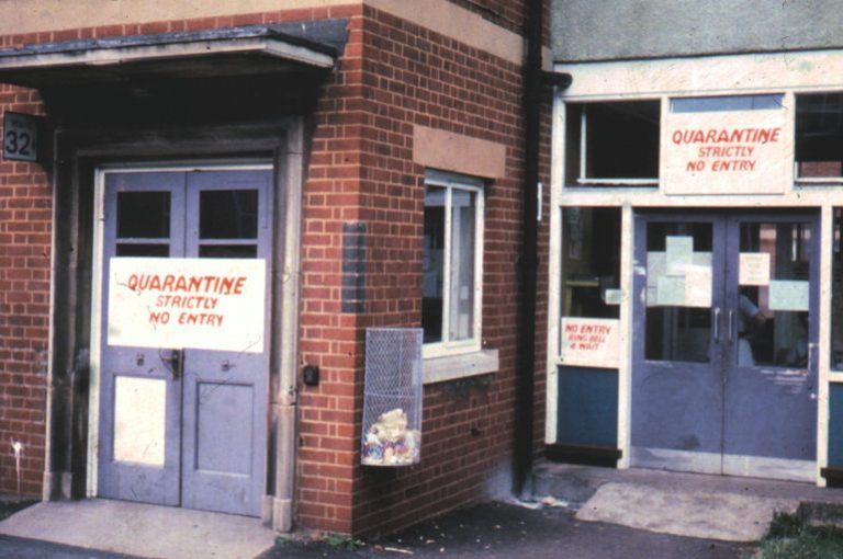 This is the exterior of the ward at East Birmingham Hospital where Janet Parker was admitted. <a href=